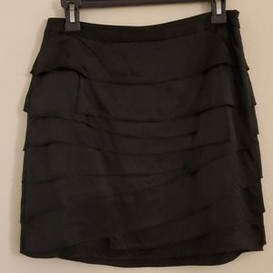 Ann Taylor Silk Layered Black Mini Skirt - 4